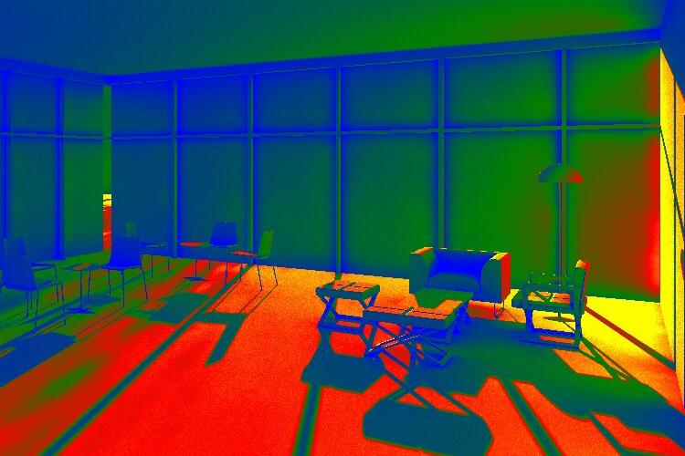 simulación iluminación natural
