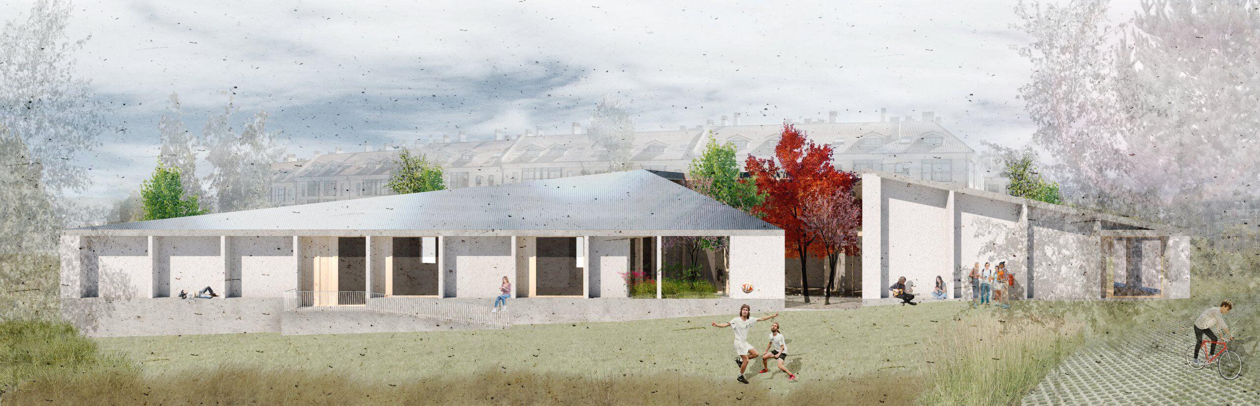Centro multifuncional sostenible